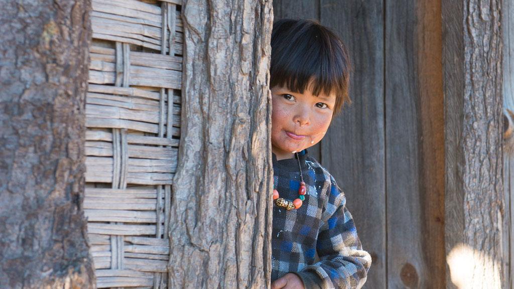 Kleines bhutanesisches Mädchen