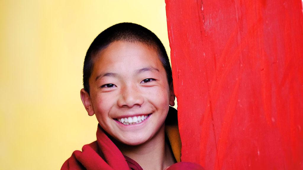Junger Mönch in Amdo