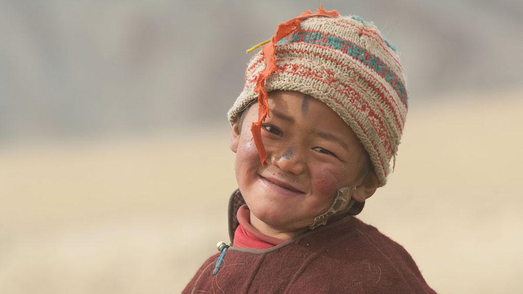 Mädchen der Nomaden in Kharnak