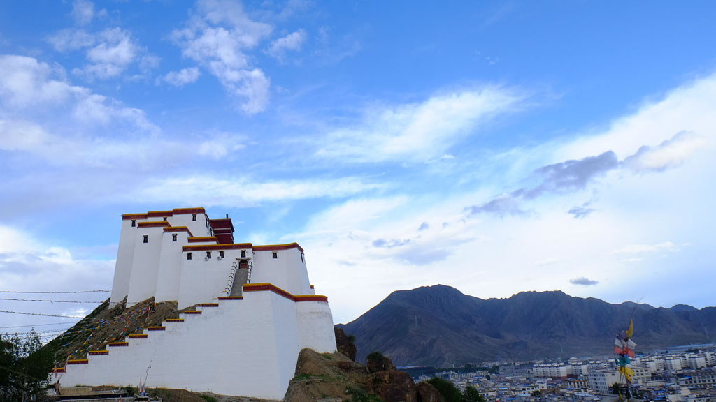 Fort von Shigatse in Tibet