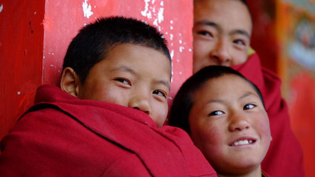Tibetische Mönchsnovizen in Osttibet