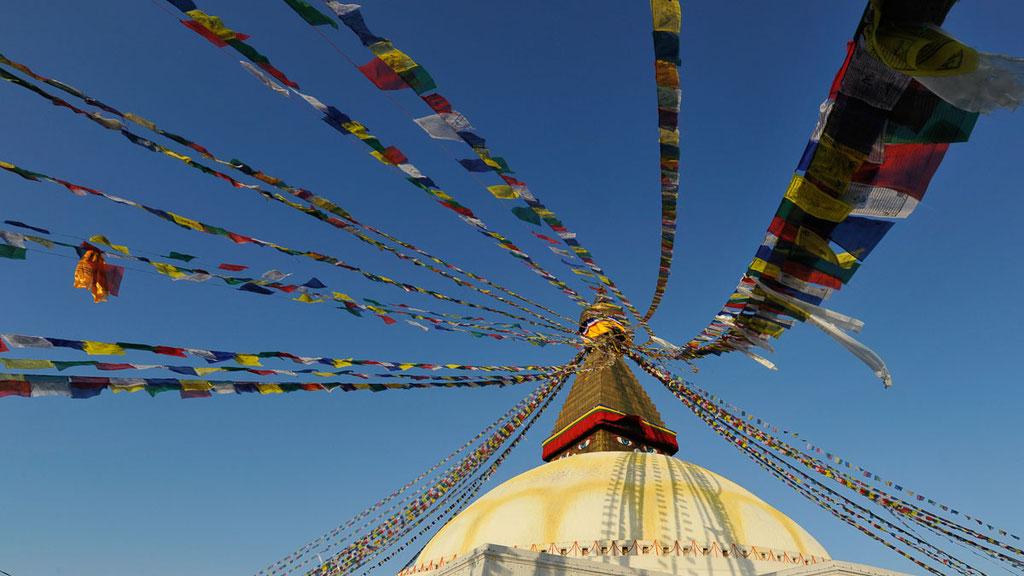 Stupa von Bodnath in Kathmandu