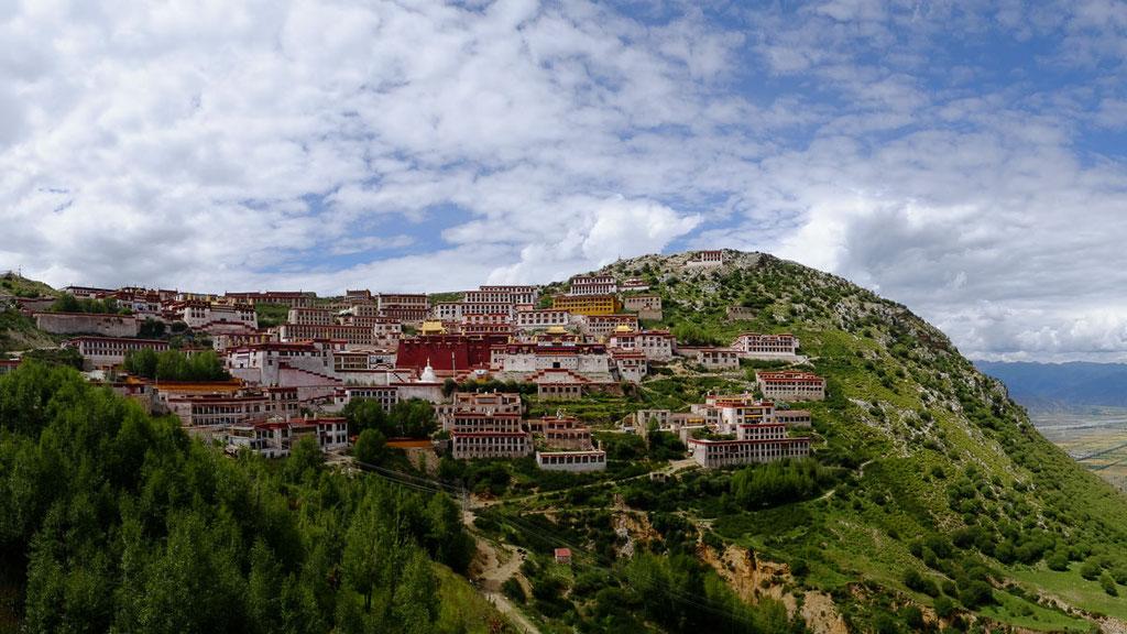 Kloster Ganden im Kiychu-Tal in der Nähe von Lhasa in Tibet