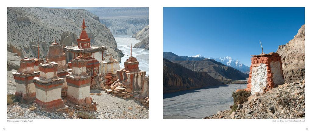 Himalaya Bildband, Chörten in Mustang und Annapurna in Nepal