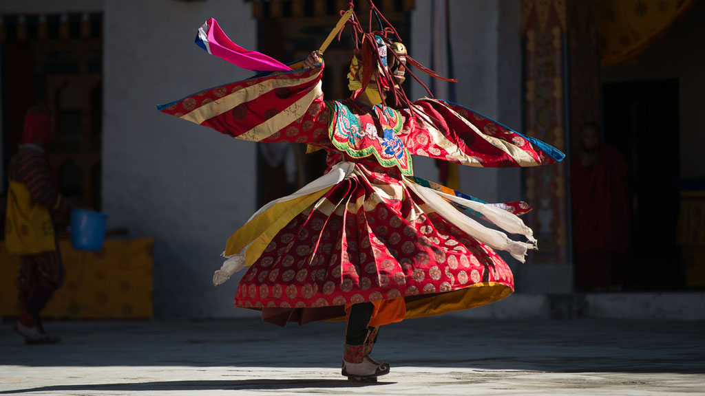 Maskentänze im Kloster Mongar