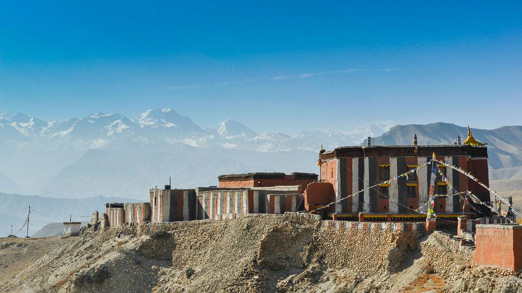 Kloster Tsarang in Mustang in Nepal