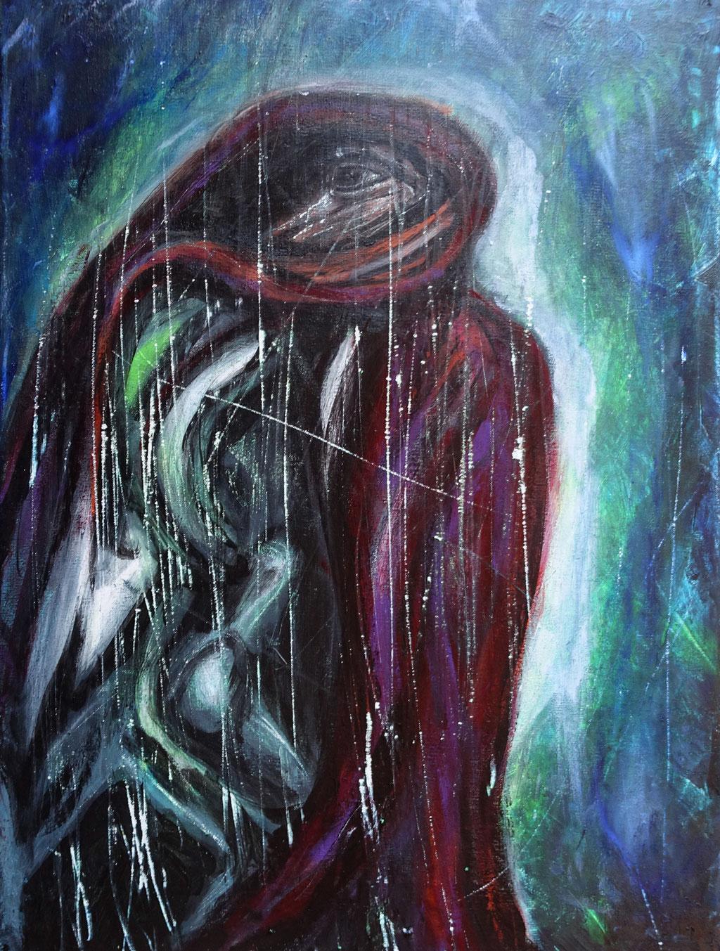 """außer mir"", Acryl auf Leinwand, 40x30 cm"