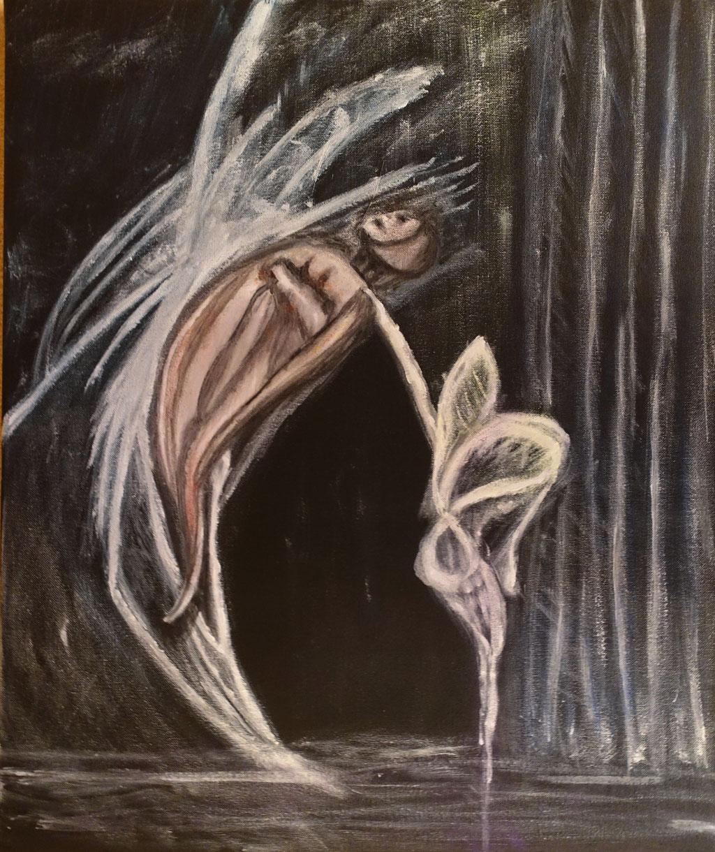 """Traumtänzerin"", Acryl auf Leinwand, 60x50 cm"
