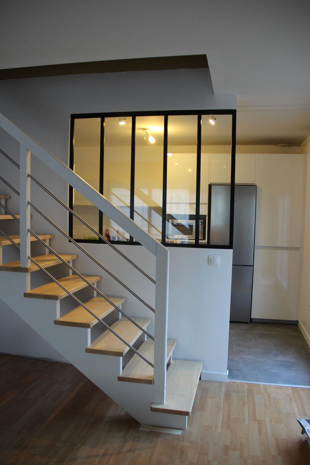 Accompagnement des travaux Verrière, escalier, cuisine, décoration