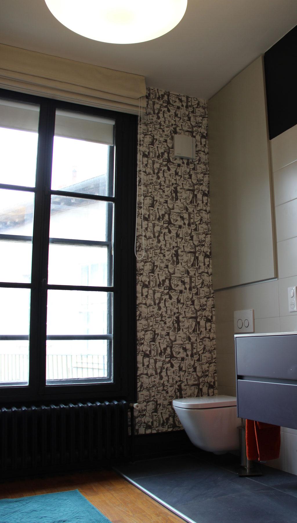 Conseil couleur et papier peint - appartement d'un ancien hôtel particulier - Rennes centre