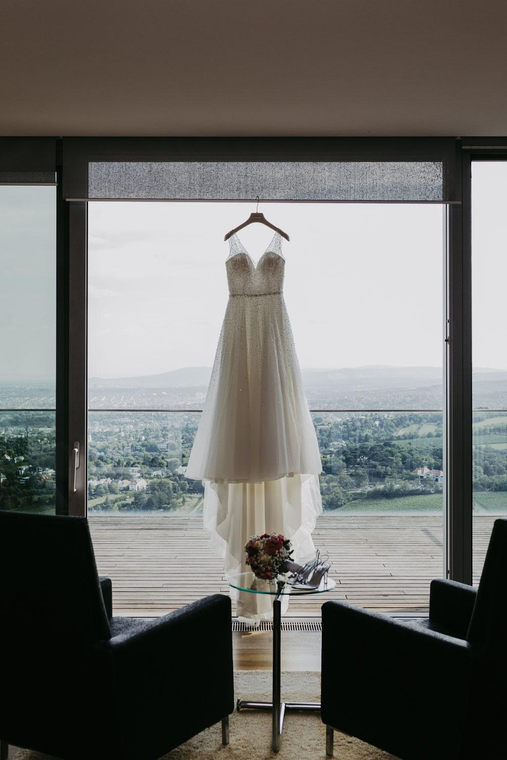 Brautkleid am Kahlenberg in Wien