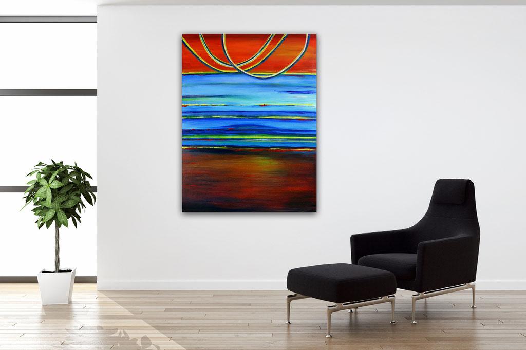 Spaceland - Abstrakte Kunst Malerei