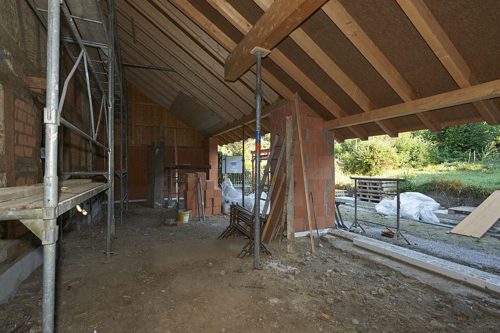 Das Gartenzimmer im Haus Wyttenbach wird zum Bankett- und Seminarraum umgebaut.