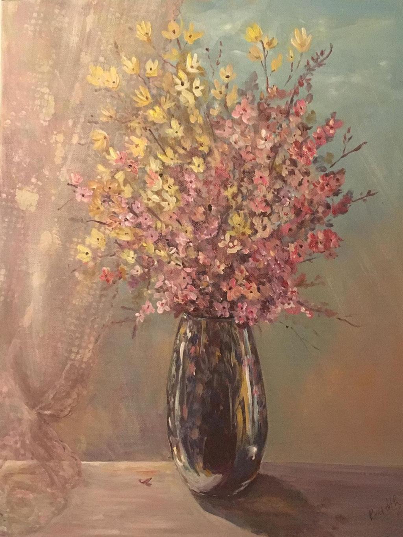 Blumen in Sonnenlicht, Acryl, € 120,00