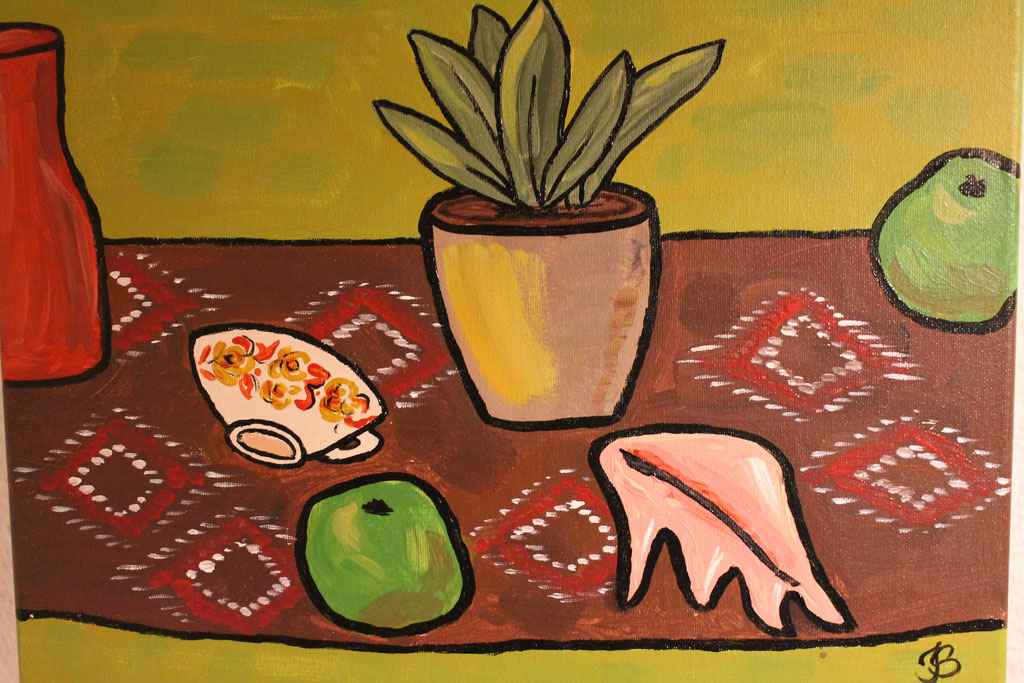Stillleben nach Matisse, Acryl,  40x30 € 150,00