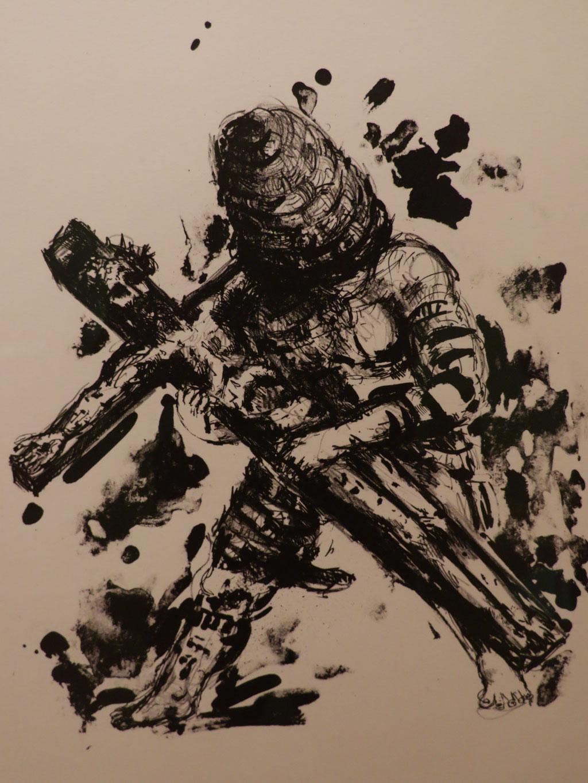 Der Aufruf 1985, Lithographie, 41 x 32 cm