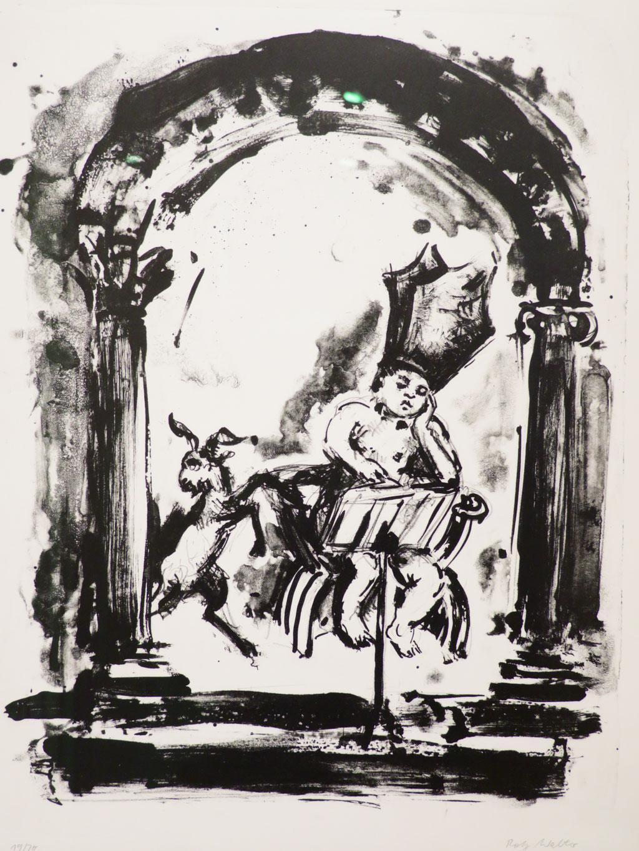 Die Lektüre 1983, Lithographie, 47,5 x 37,5 cm