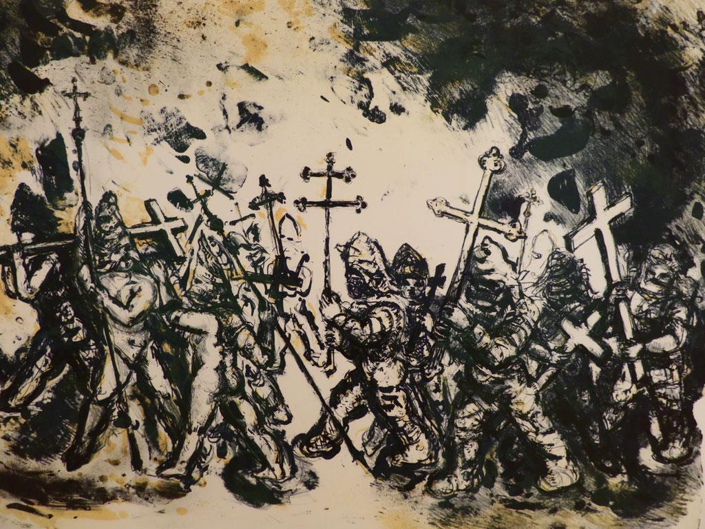Der Aufbruch 1985, Lithographie, 48 x 64 cm