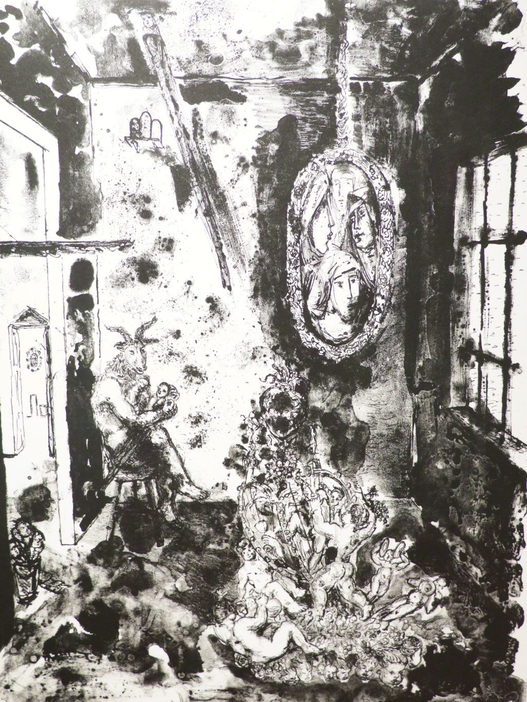 Behütet 1990, Lithographie, 63,5 x 46 cm
