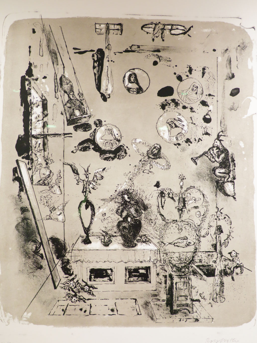Madaillons 1991, Lithographie, 58 x 47,5 cm