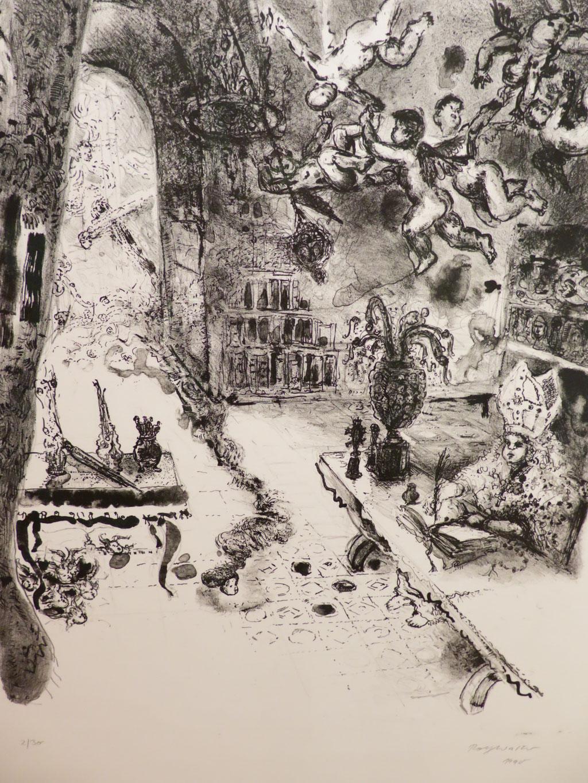 Ohne Titel 1990, Lithographie, 58 x 44 cm