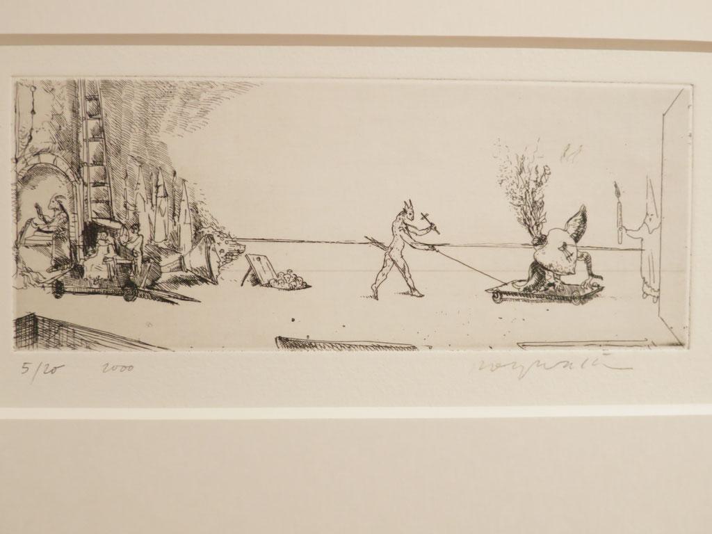 Sacre Cœur 2000, Radierung, 7,5 x 19,5 cm
