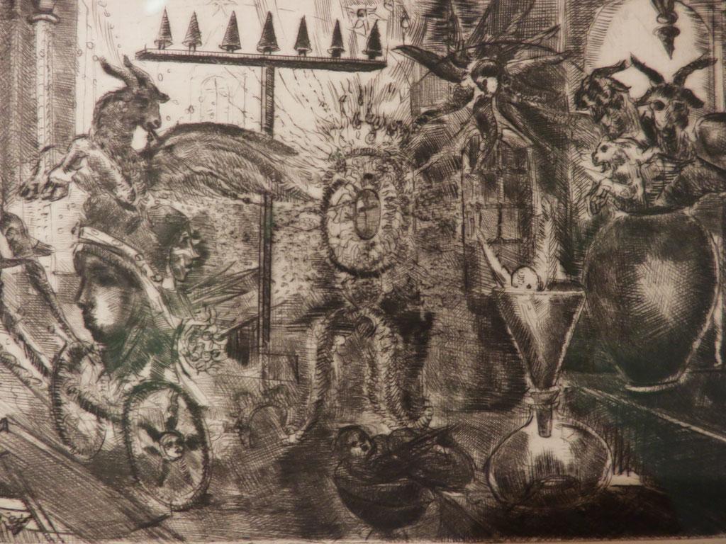 Sakristei 1999, Kaltnadel, 13,5 x 20 cm