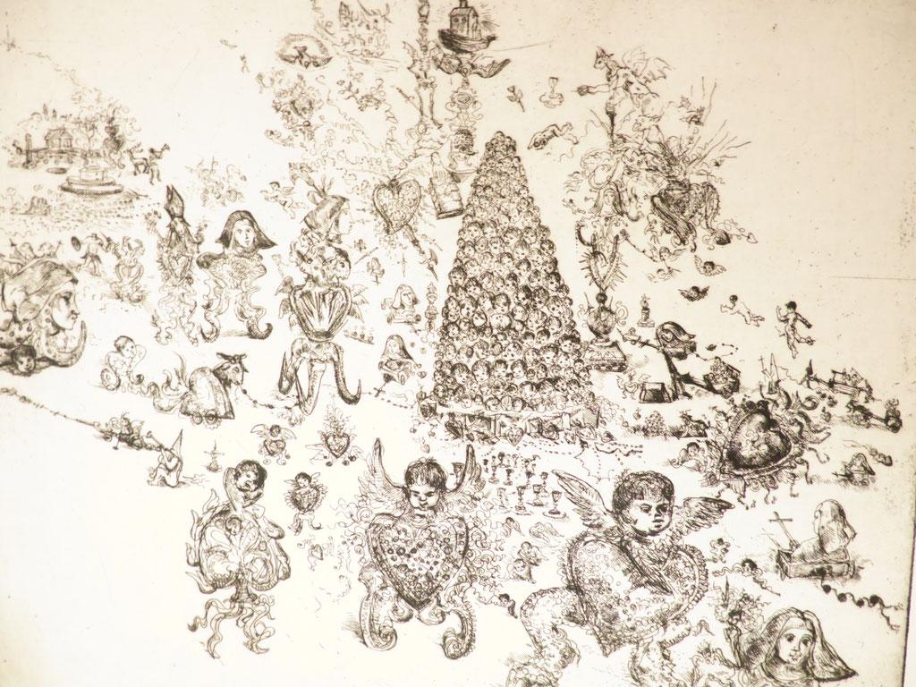 Ohne Titel 2016, Radierung (Ätzung), 20 x 38,5 cm