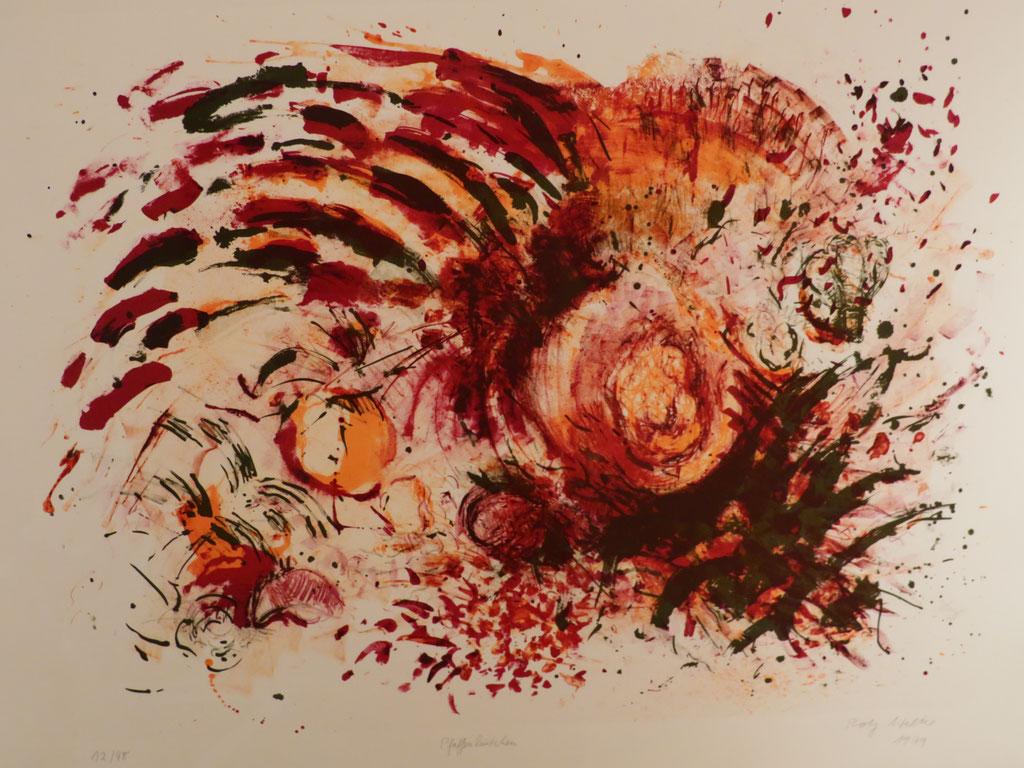 Pfaffenhütchen 1979, Lithographie, 49 x 65 cm