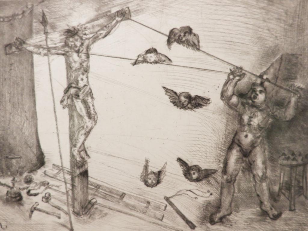Stigmatisierung 2013, Kaltnadel, 18 x 24,5 cm