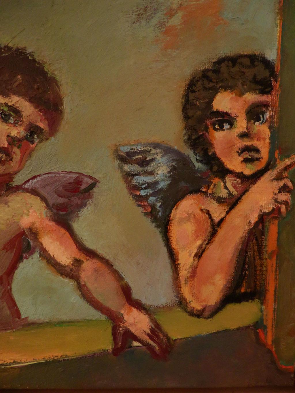 Die Lauschenden 2010, Öl auf Leinwand, 30 x 24 cm
