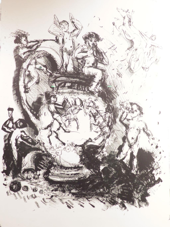 Reiche Putten 1983, Lithographie, 59 x 43 cm