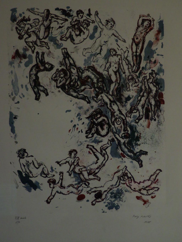 Ohne Titel 1988, Lithographie, 5-farbig, 60 x 45 cm