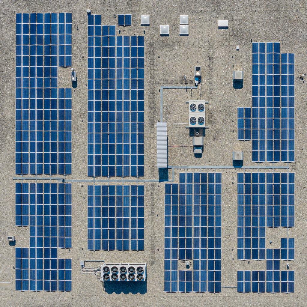 Drohenfotografie - Solarzellen