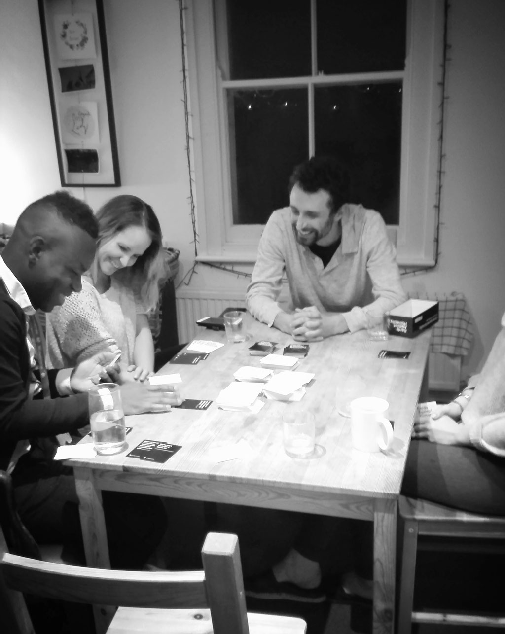 "Jill & friends playing ""Cards Against Humanity"" - what a laugh"