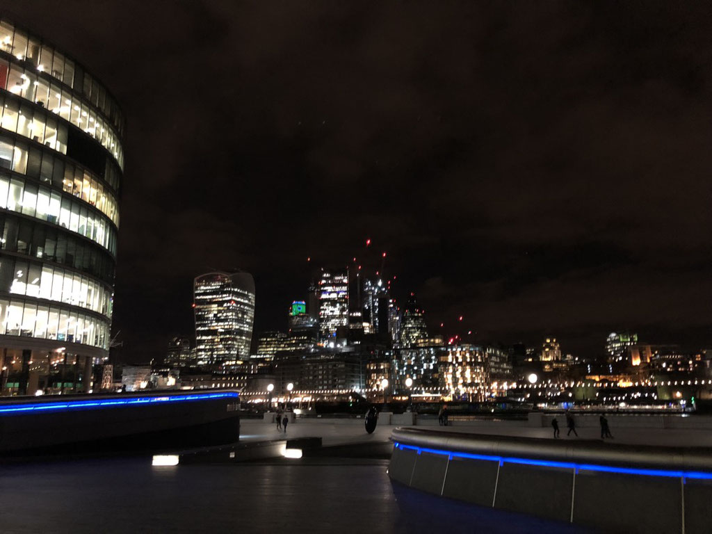 After the launch: London by night