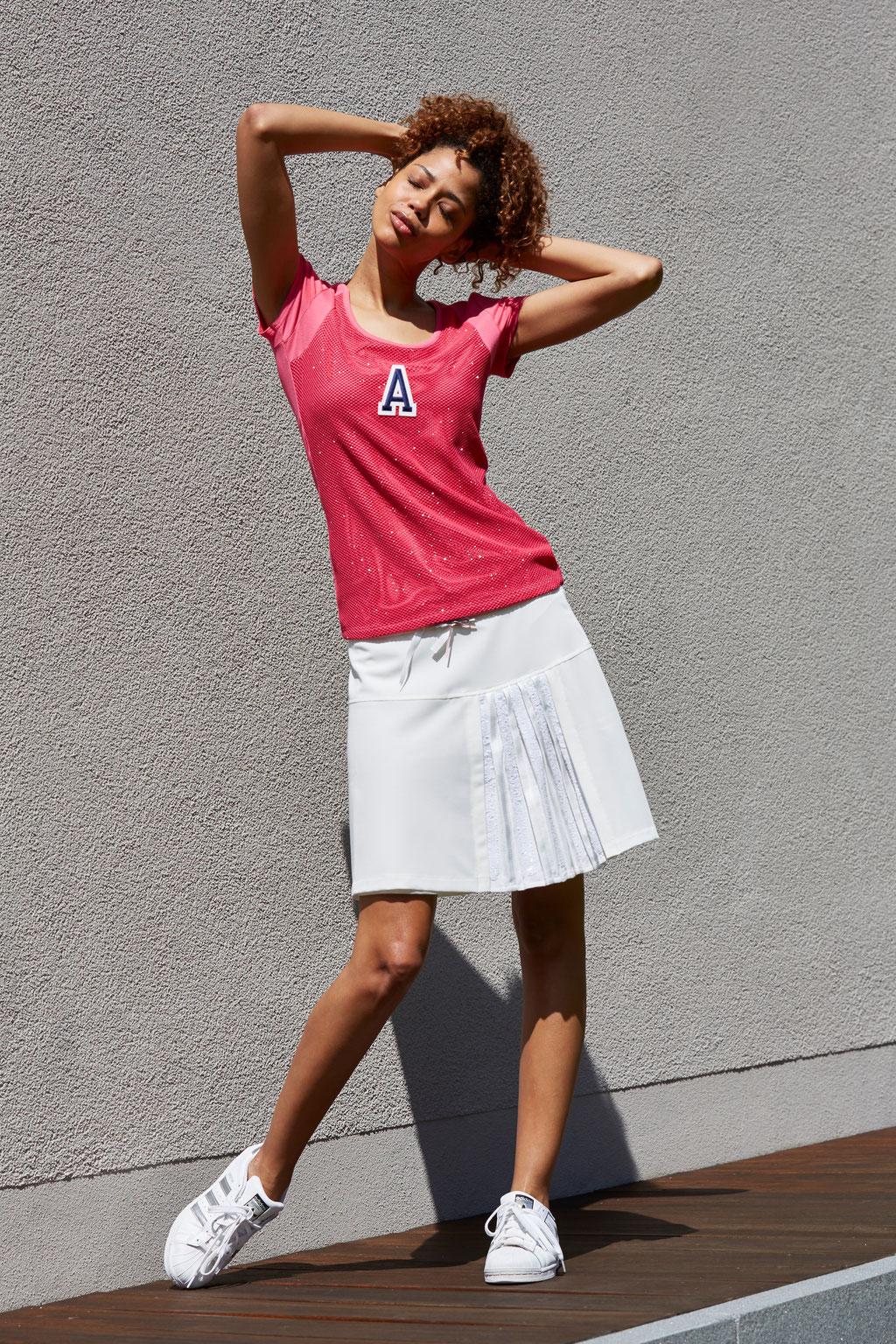 Shirt Jojo pink, Skirt Pat white