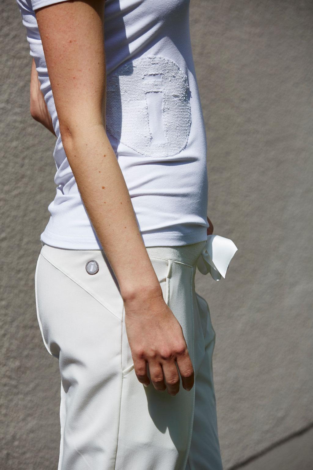 Pants Scarlett white, Shirt Vivi