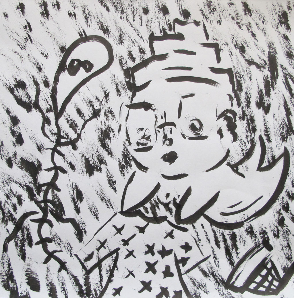 MY LITTLE WIZARD 6, 30 x 30 mm, Ink on paper, 2015