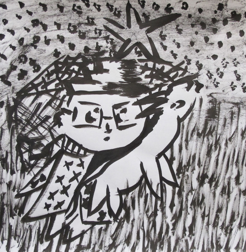MY LITTLE WIZARD 8, 30 x 30 mm, Ink on paper, 2015