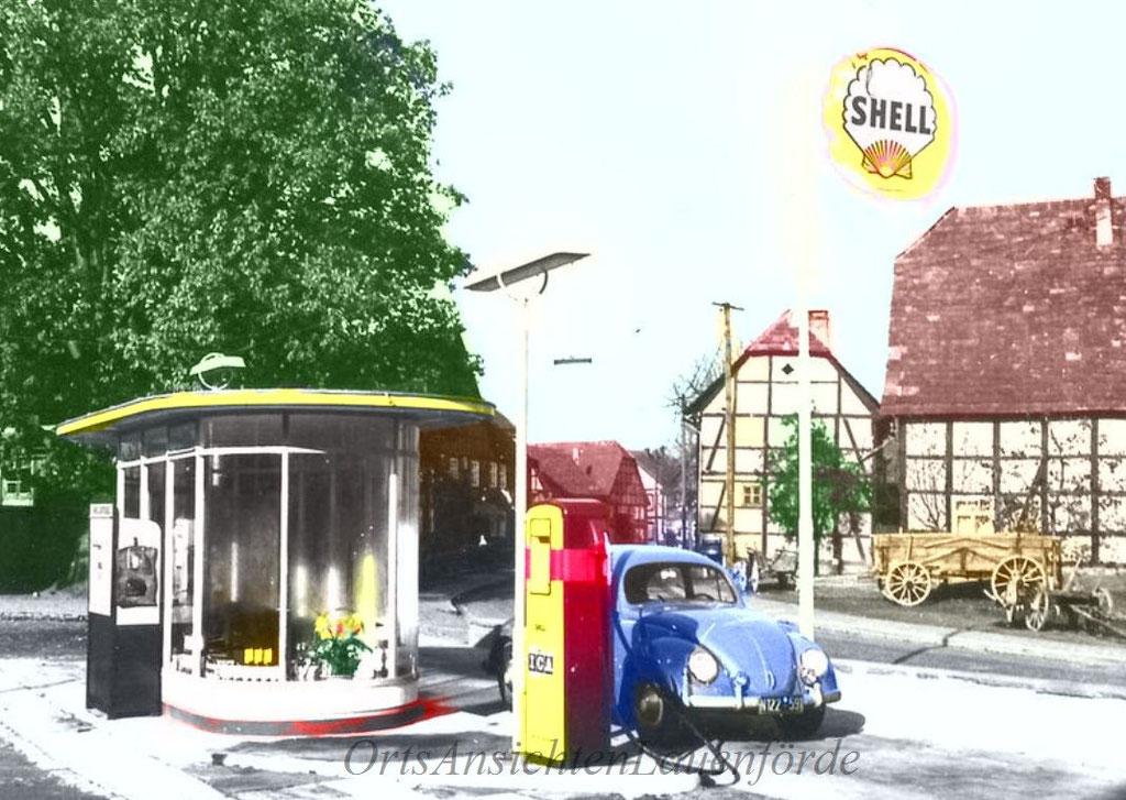 Tankstelle Strinz 1960er Jahre.