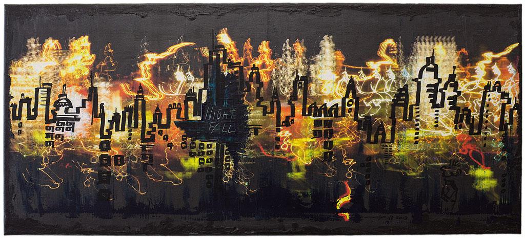 LINE SKY LINE (2013, 1/8, 90x40cm, MP0044, Photographie, Digitaldruck auf Leinwand, Mischtechnik) © Michael Pfenning