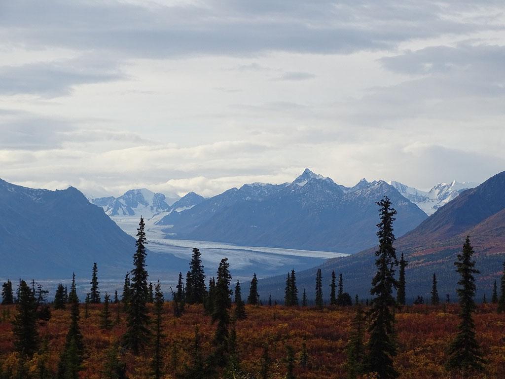 Matanuska Gletscher aus der Ferne