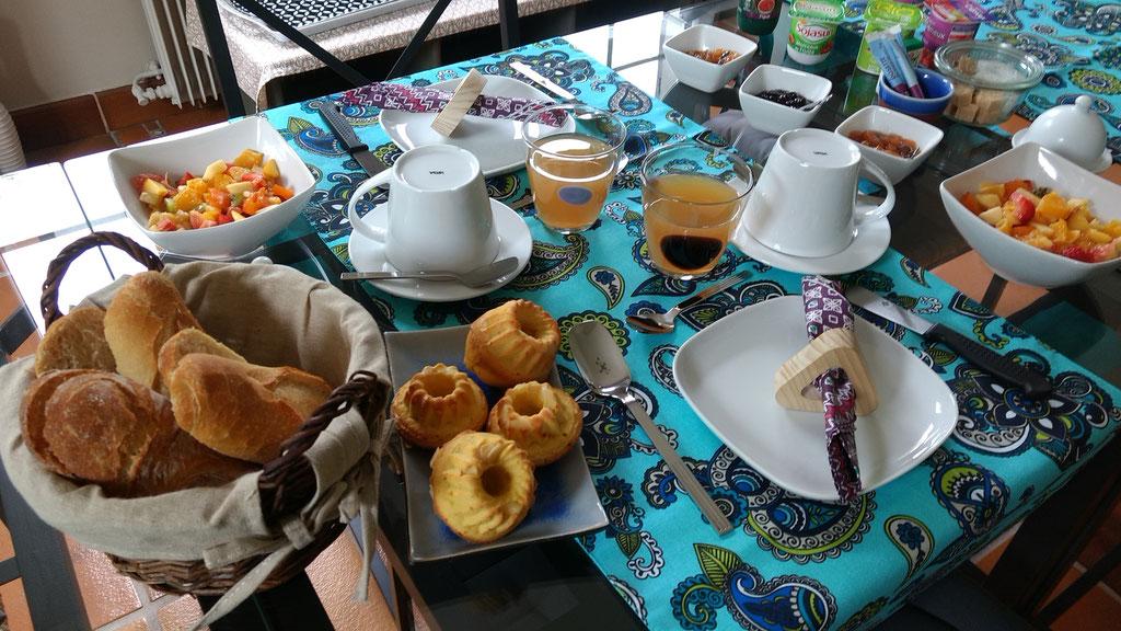 Frühstück bei Villa Aosta