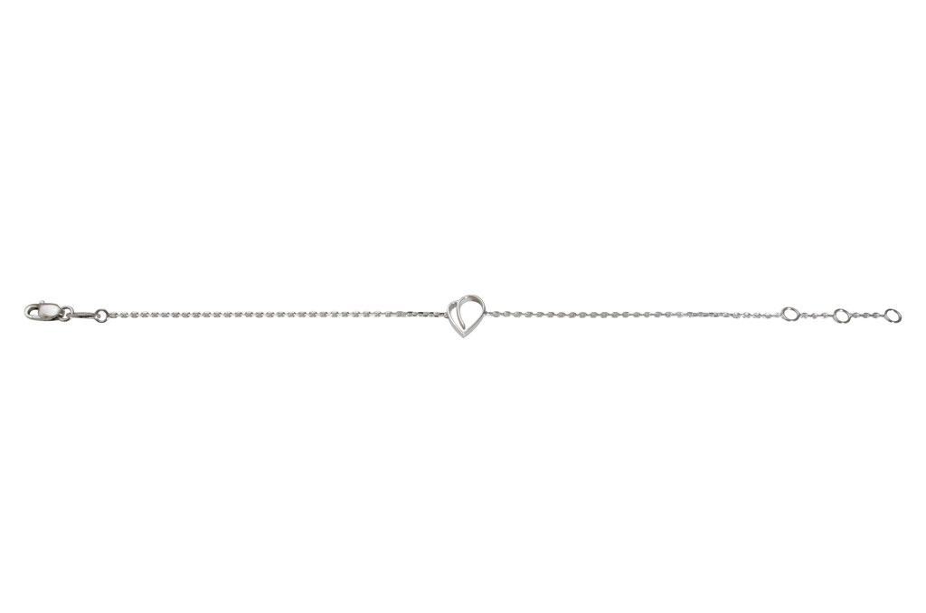 Herzarmband aus 18 karat Weißgold, 390 Euro