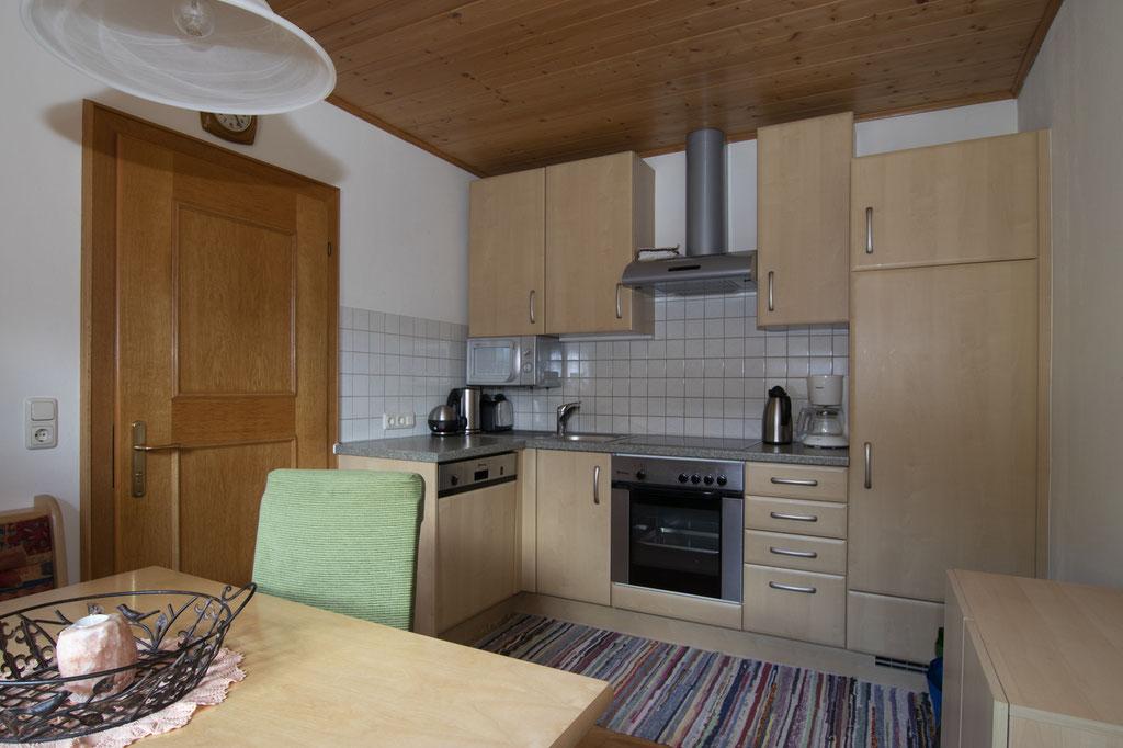 Küche in der Ferienwohnung - Haus Neudegger