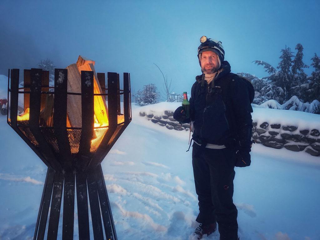 Daniel Fritschi Skitour auf Uetliberg