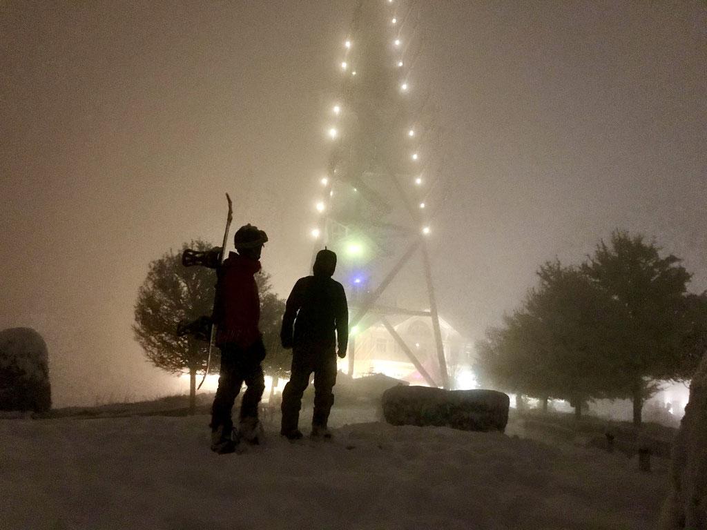 Roman Fritschi und Daniel Fritschi Skitour auf den Uetliberg