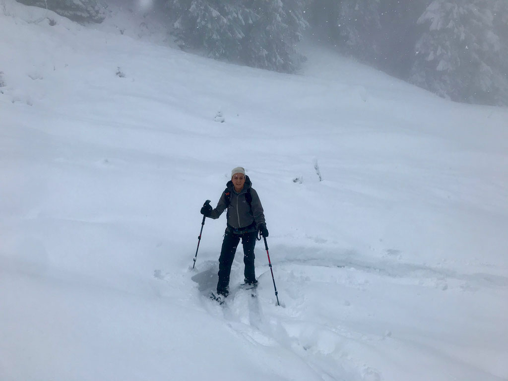 Denise Sigg auf Skitour