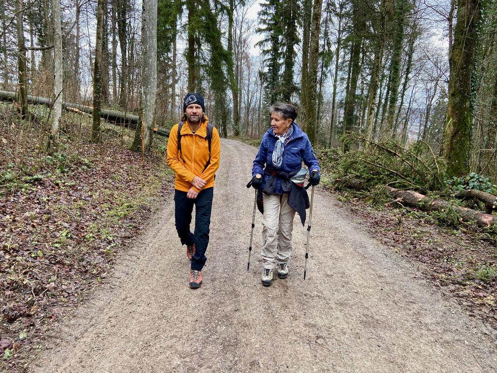 Daniel Fritschi und Rosmarie Fritschi am Uetliberg.